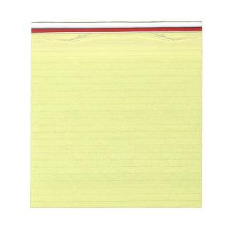 Fondo alineado amarillo del papel de escuela blocs de notas