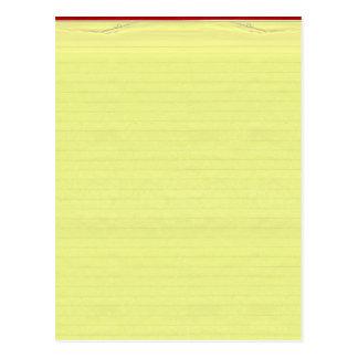 Fondo alineado amarillo del papel de escuela postal