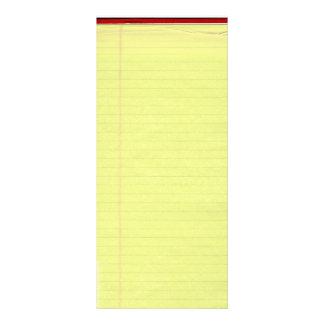 Fondo alineado amarillo del papel de escuela tarjeta publicitaria personalizada