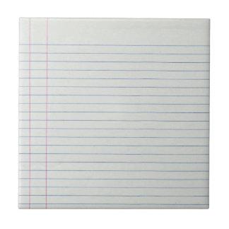 Fondo alineado del papel de escuela azulejo