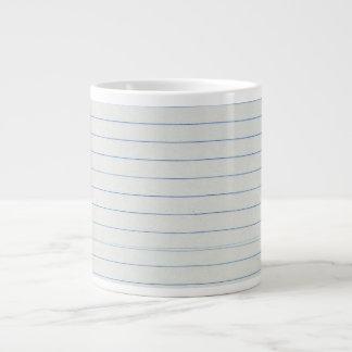 Fondo alineado del papel de escuela tazas extra grande
