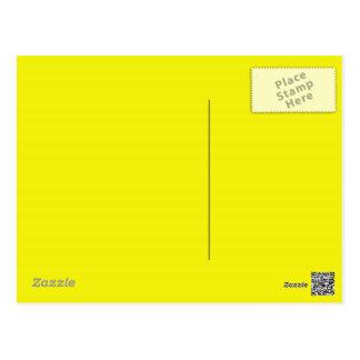 Fondo amarillo de neón brillante en una postal