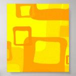 Fondo amarillo retro poster