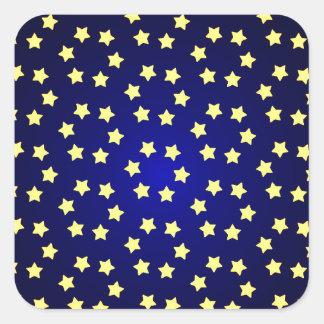 fondo amarillo rojo del navidad de la estrella pegatina cuadrada