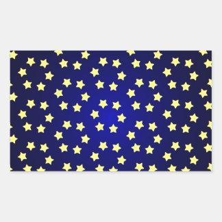 fondo amarillo rojo del navidad de la estrella pegatina rectangular