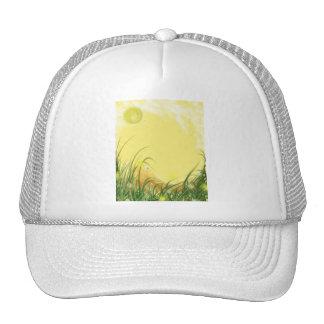Fondo amarillo soleado de la fantasía gorra