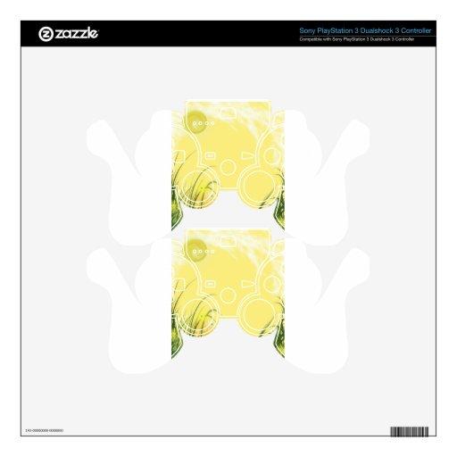 Fondo amarillo soleado de la fantasía skins para mando PS3