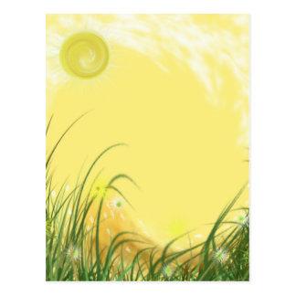 Fondo amarillo soleado de la fantasía tarjetas postales