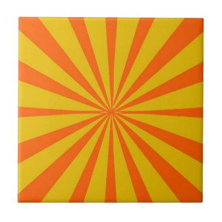 Fondo amarillo y anaranjado retro tejas  ceramicas