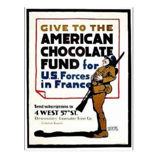 Fondo americano del chocolate tarjeta postal