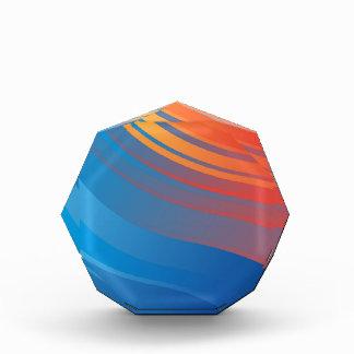 Fondo anaranjado azul abstracto de la onda