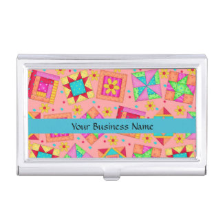 Fondo anaranjado coralino del arte del bloque del cajas de tarjetas de presentación