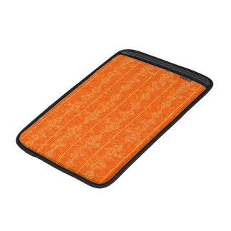 fondo anaranjado del ornamento del modelo del oro funda macbook air