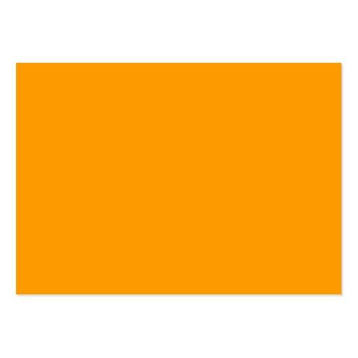 Fondo anaranjado llano tarjetas de visita grandes