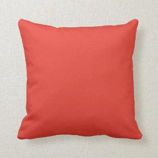 Fondo anaranjado rojo brillante coralino de color  almohadas