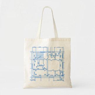 Fondo arquitectónico bolsa de mano