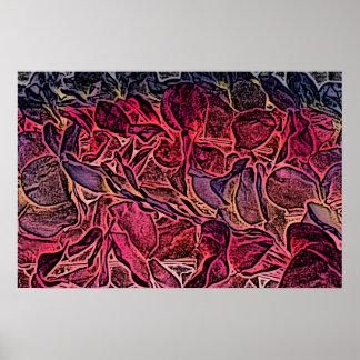 fondo aseado de los leus del rosa del bosquejo impresiones