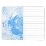 Fondo azul abstracto de la acuarela, textura. 2 cuaderno