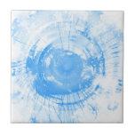 Fondo azul abstracto de la acuarela, textura azulejos
