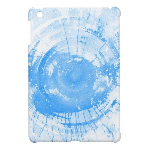 Fondo azul abstracto de la acuarela, textura iPad mini coberturas