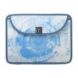Fondo azul abstracto de la acuarela, textura funda para macbooks