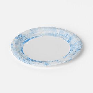 Fondo azul abstracto de la acuarela, textura platos de papel