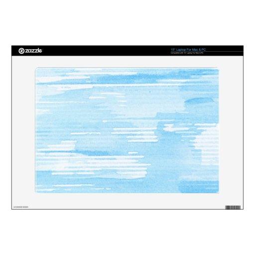 Fondo azul abstracto de la acuarela, textura portátil 38,1cm skin