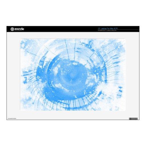Fondo azul abstracto de la acuarela, textura portátil 38,1cm skins