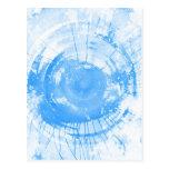 Fondo azul abstracto de la acuarela, textura postal