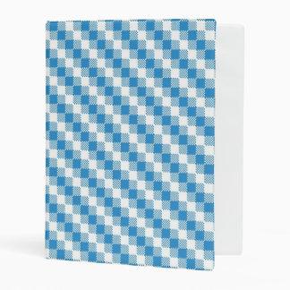 fondo Azul-blanco de los cuadrados Mini Carpeta