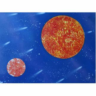 fondo azul de dos soles spacepainting