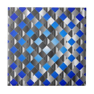 Fondo azul de la rejilla azulejo cuadrado pequeño