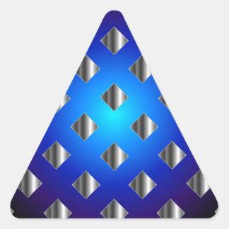 Fondo azul de la rejilla pegatina triangular