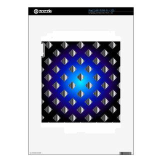 Fondo azul de la rejilla skin para el iPad 2