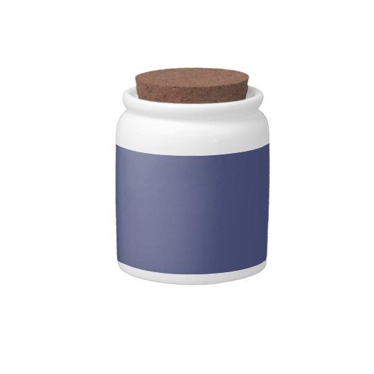Fondo azul de Wedgewood del país en un tarro del c Tarro De Cerámica Para Dulces