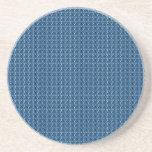 Fondo azul del diseño posavasos diseño