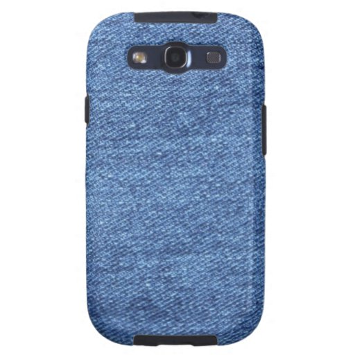 Fondo azul del dril de algodón de Jean Galaxy S3 Cobertura