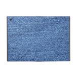 Fondo azul del dril de algodón de Jean iPad Mini Cobertura