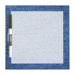 Fondo azul del dril de algodón de Jean Pizarras Blancas