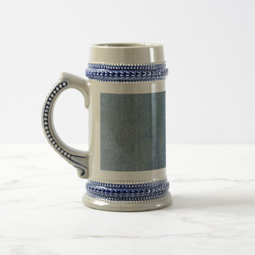 Fondo azul del dril de algodón jarra de cerveza
