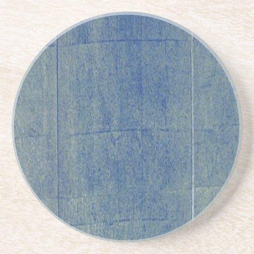 Fondo azul del dril de algodón posavaso para bebida