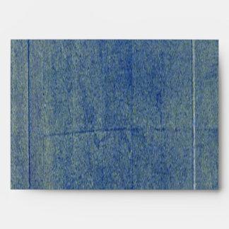 Fondo azul del dril de algodón sobres