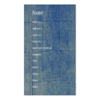 Fondo azul del dril de algodón tarjetas de visita