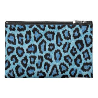 Fondo azul del estampado leopardo