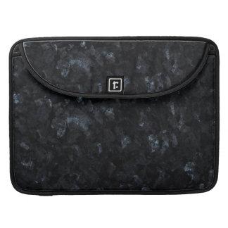 Fondo azul del modelo de la piedra de la perla fundas macbook pro
