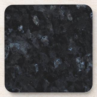 Fondo azul del modelo de la piedra de la perla posavaso