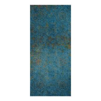 Fondo azul del modelo de los puntos oxidados tarjetas publicitarias a todo color