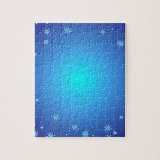 Fondo azul del navidad rompecabeza