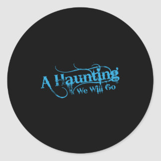 Fondo azul del negro del logotipo de AHWWG Pegatina Redonda