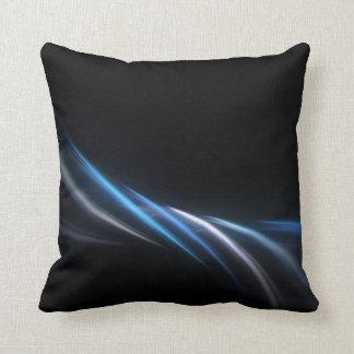 Fondo azul del plasma del fractal cojines